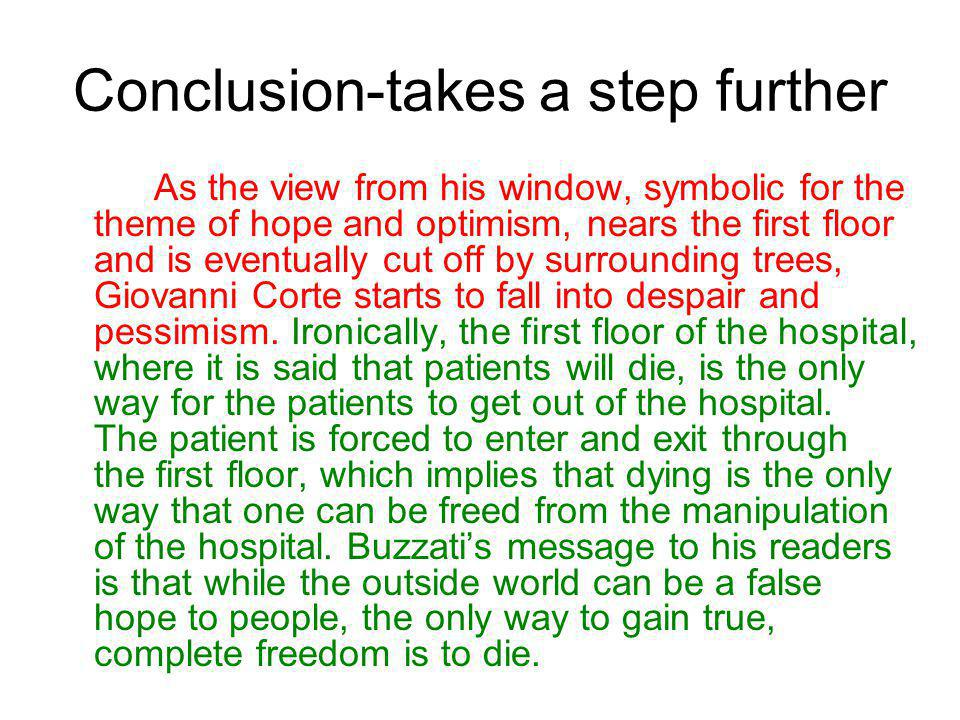 Conclusion-takes a step further