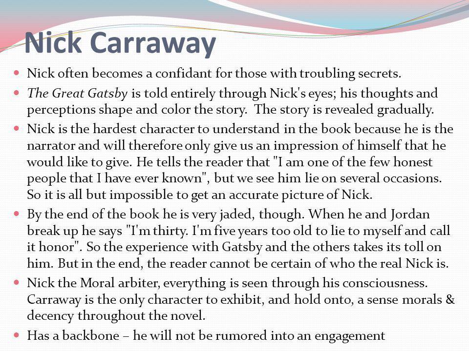the great gatsby nick description