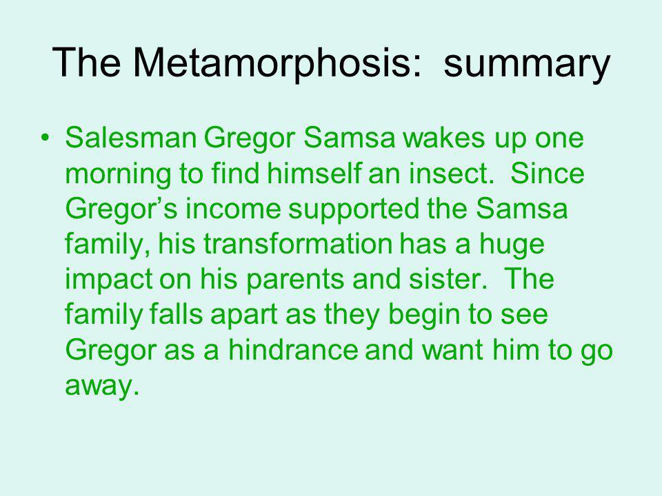 the metamorphosis short summary