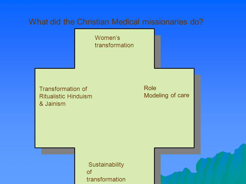What did the Christian Medical missionaries do