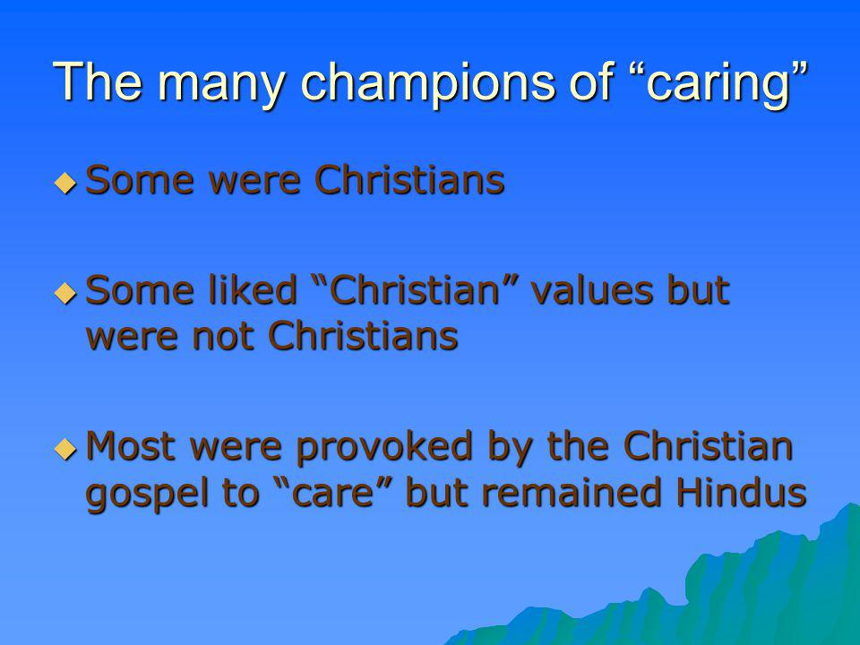 The many champions of caring