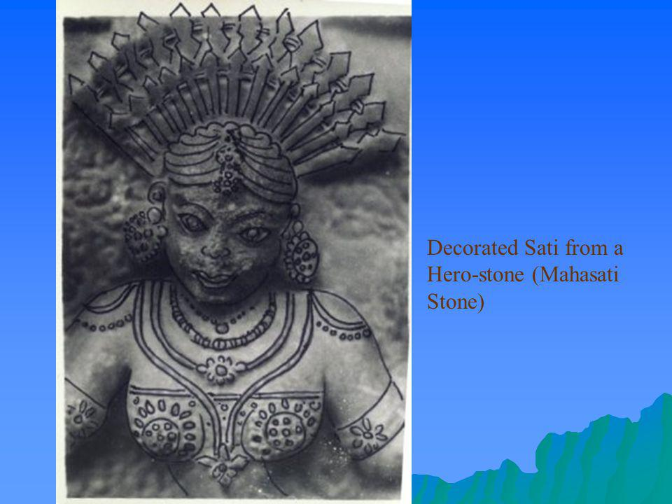 Decorated Sati from a Hero-stone (Mahasati Stone)