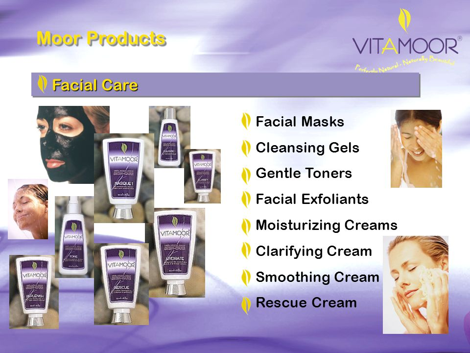 Moor Products Facial Care Facial Masks Cleansing Gels Gentle Toners