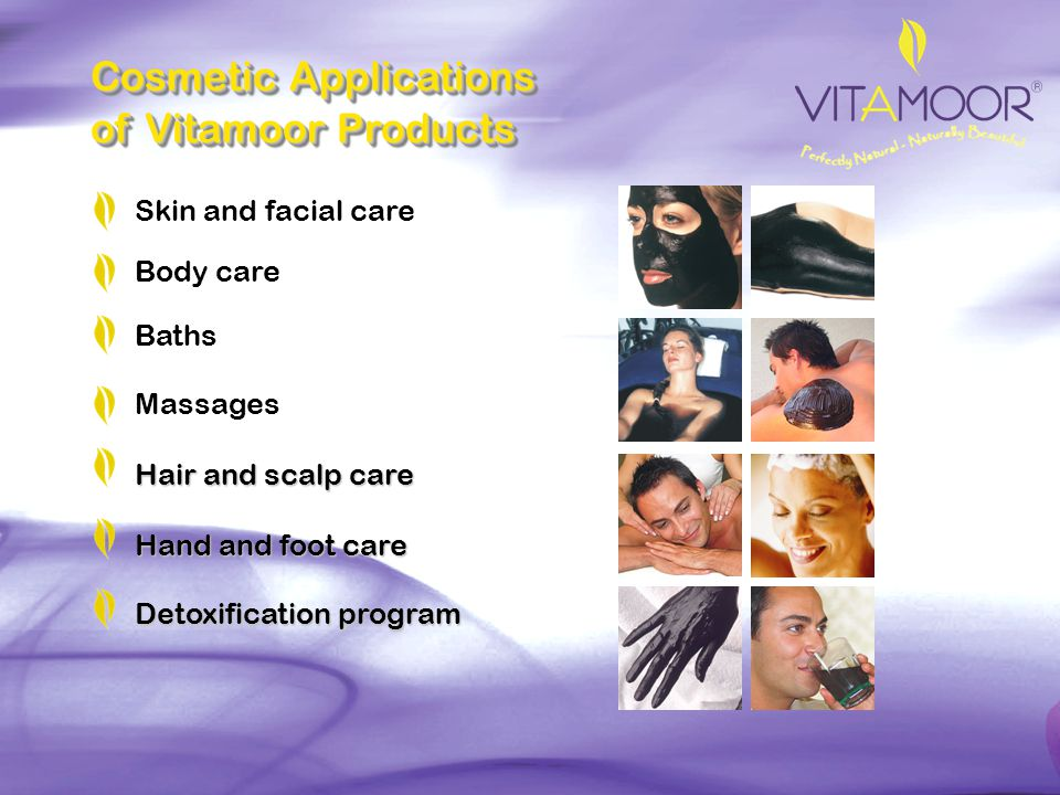Cosmetic Applications of Vitamoor Products