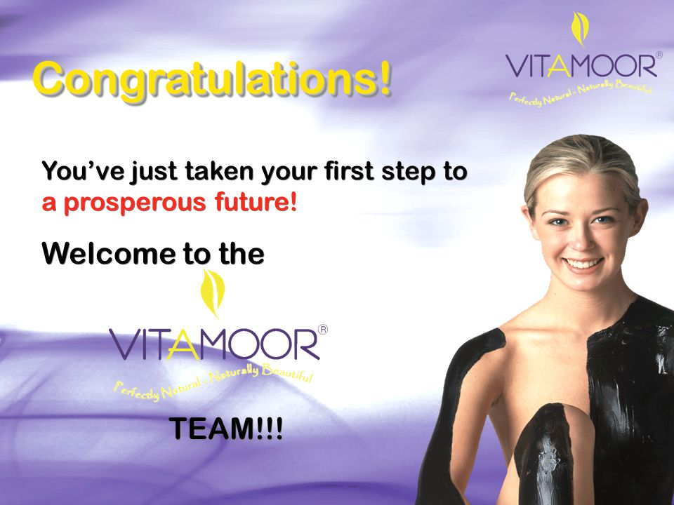 Congratulations! Welcome to the TEAM!!!