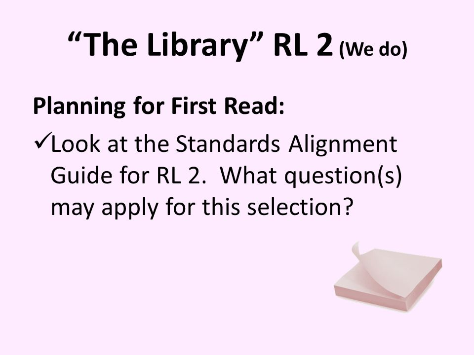 The Library RL 2 (We do)
