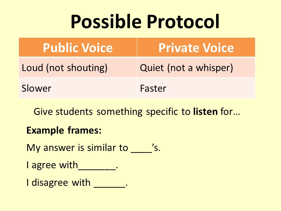 Give students something specific to listen for…