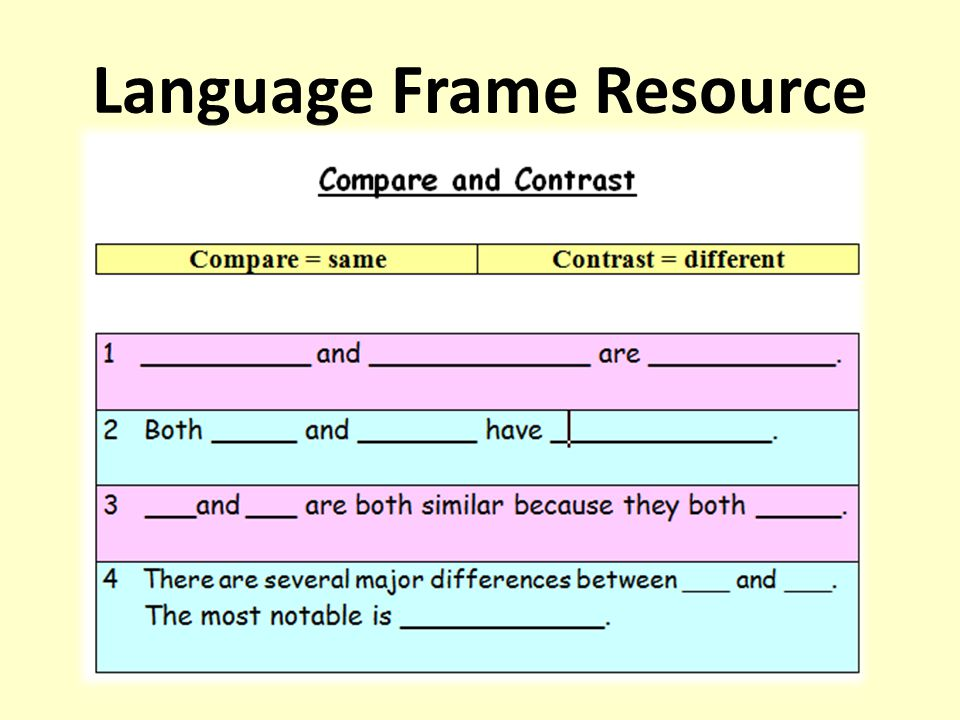 Language Frame Resource