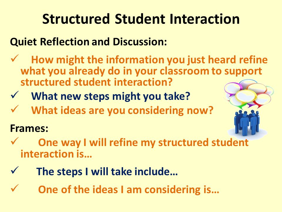 Structured Student Interaction