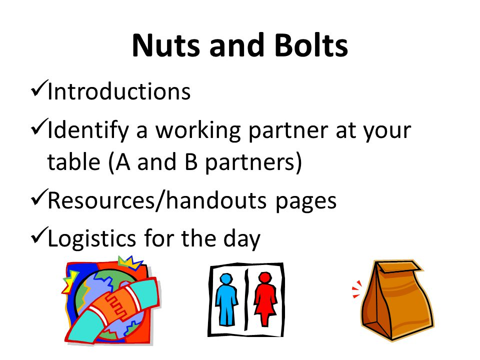 Nuts and Bolts Introductions