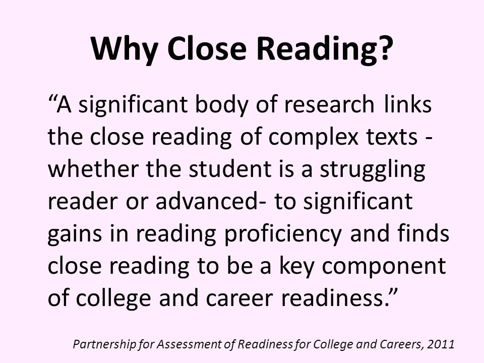 Why Close Reading
