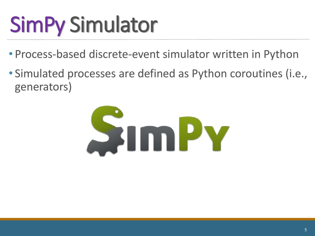 Discrete-Event Simulation and Performance Evaluation - ppt download