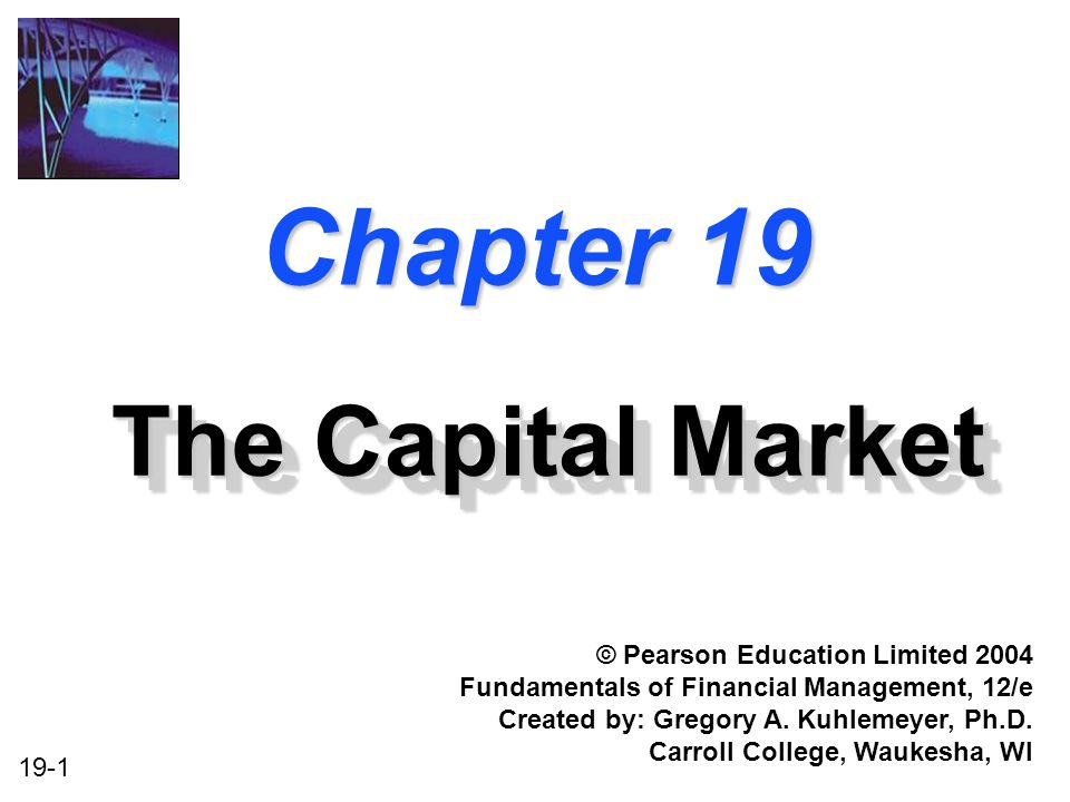 Chapter 19 The Capital Market © Pearson Education Limited 2004