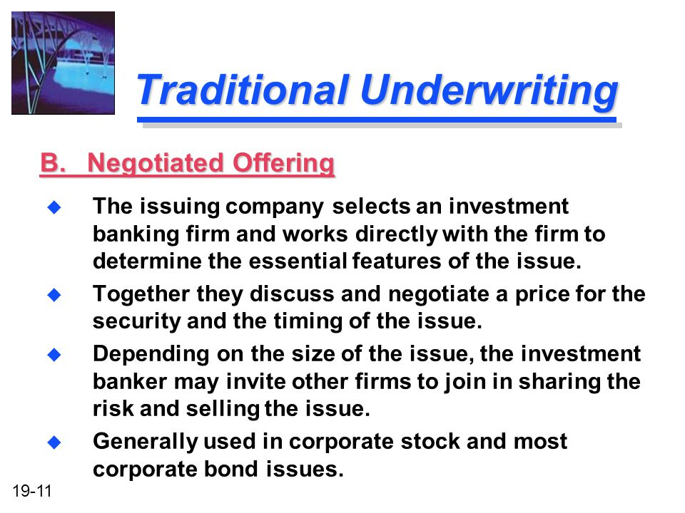 Traditional Underwriting