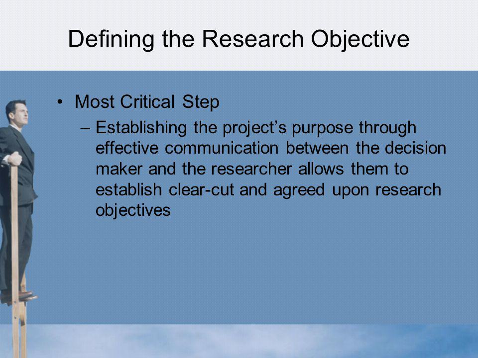 Defining the Research Objective