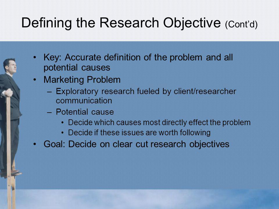 Defining the Research Objective (Cont'd)