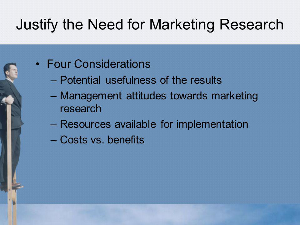 Justify the Need for Marketing Research