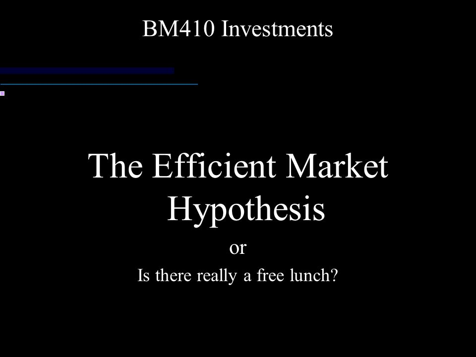 a report on the internet related stock market and the importance of efficient market hypothesis emh  The efficient market hypothesis (emh) provides that the stocks always trade at their fair value on stock exchanges, making it impossible for investors to either purchase undervalued stocks or sell stocks for.