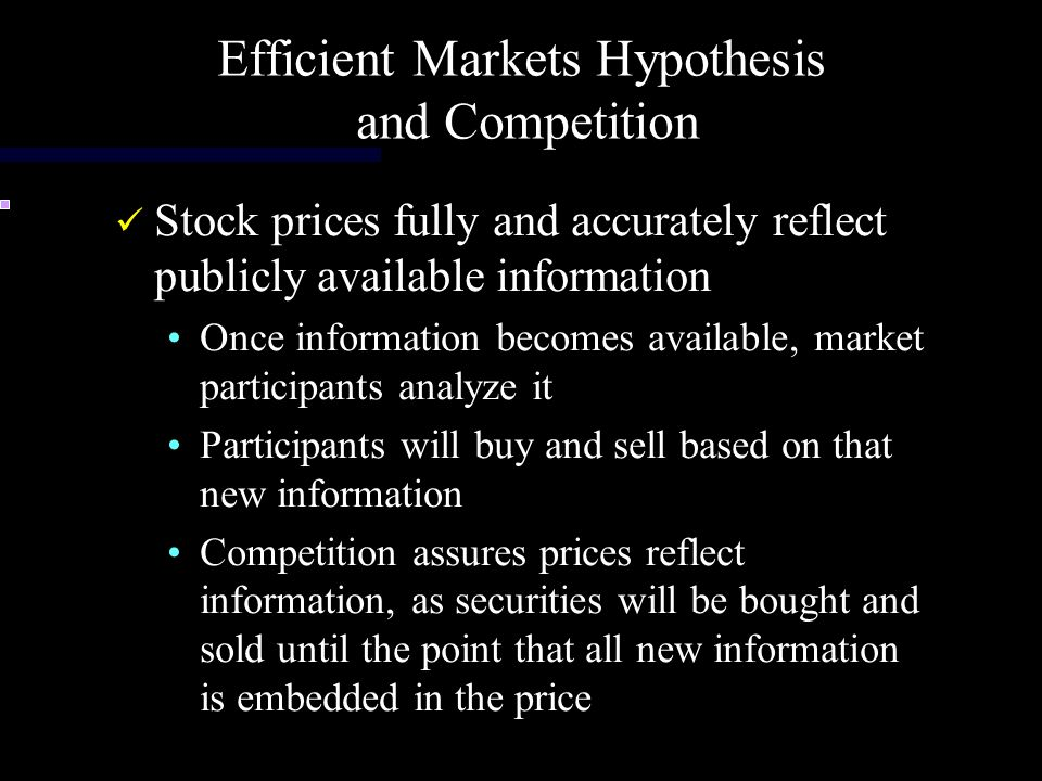 Efficient Markets Hypothesis and Competition