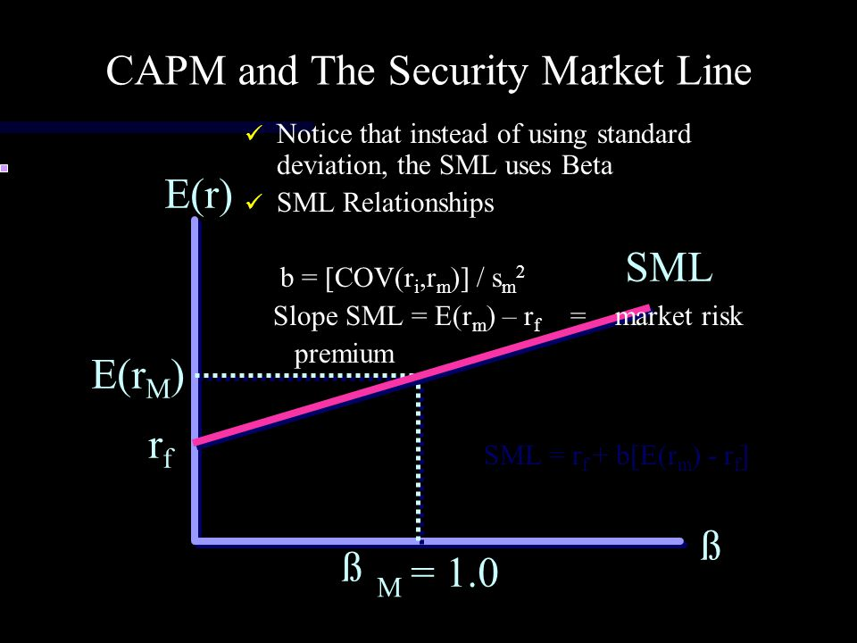 CAPM and The Security Market Line