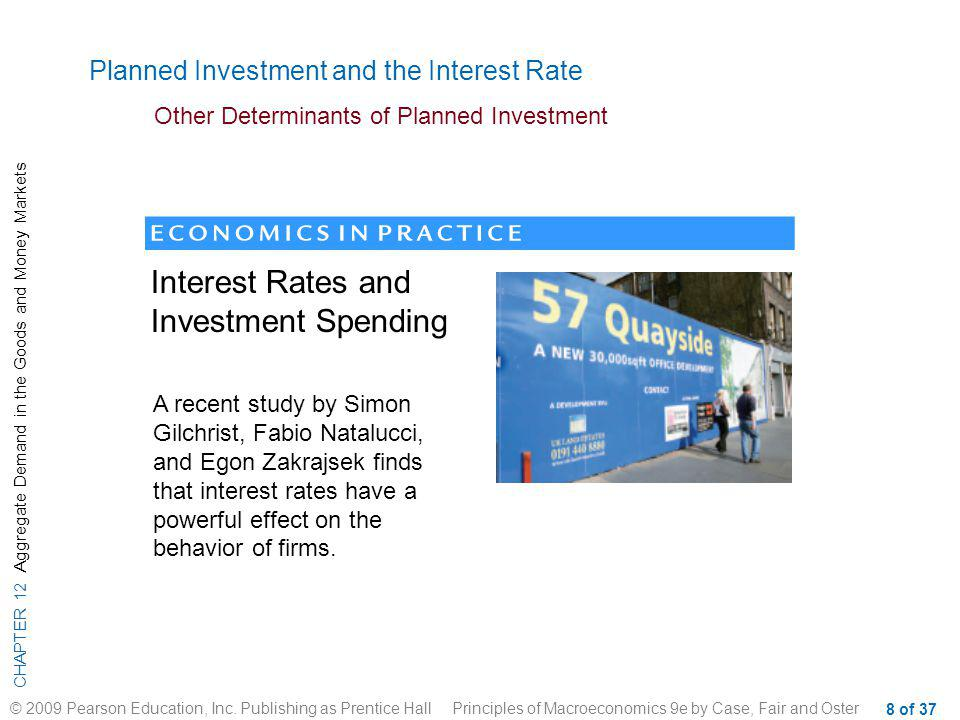 Interest Rates and Investment Spending