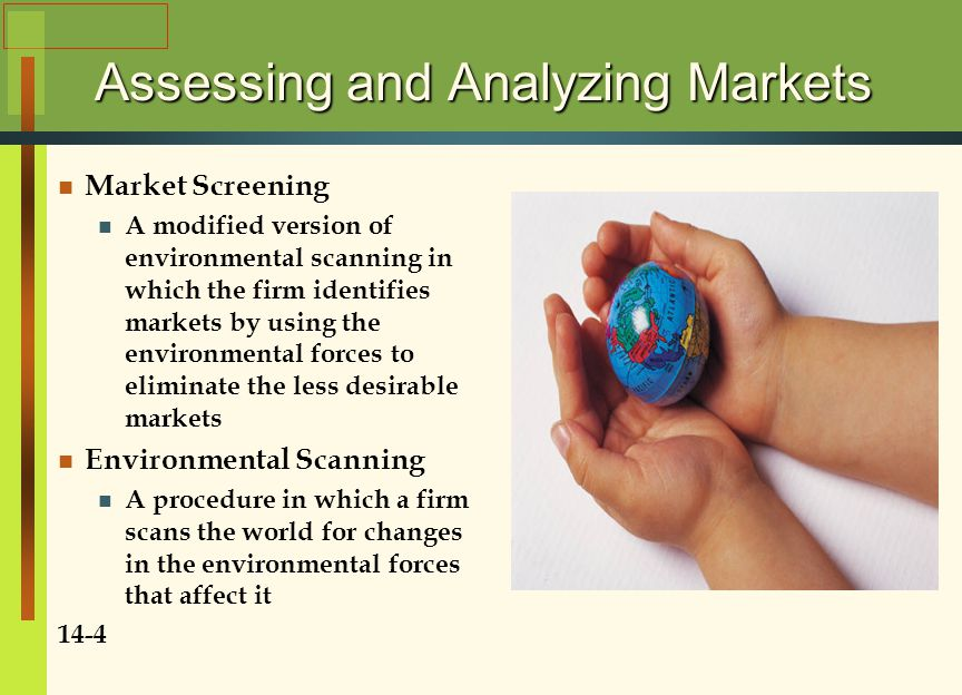 Assessing and Analyzing Markets