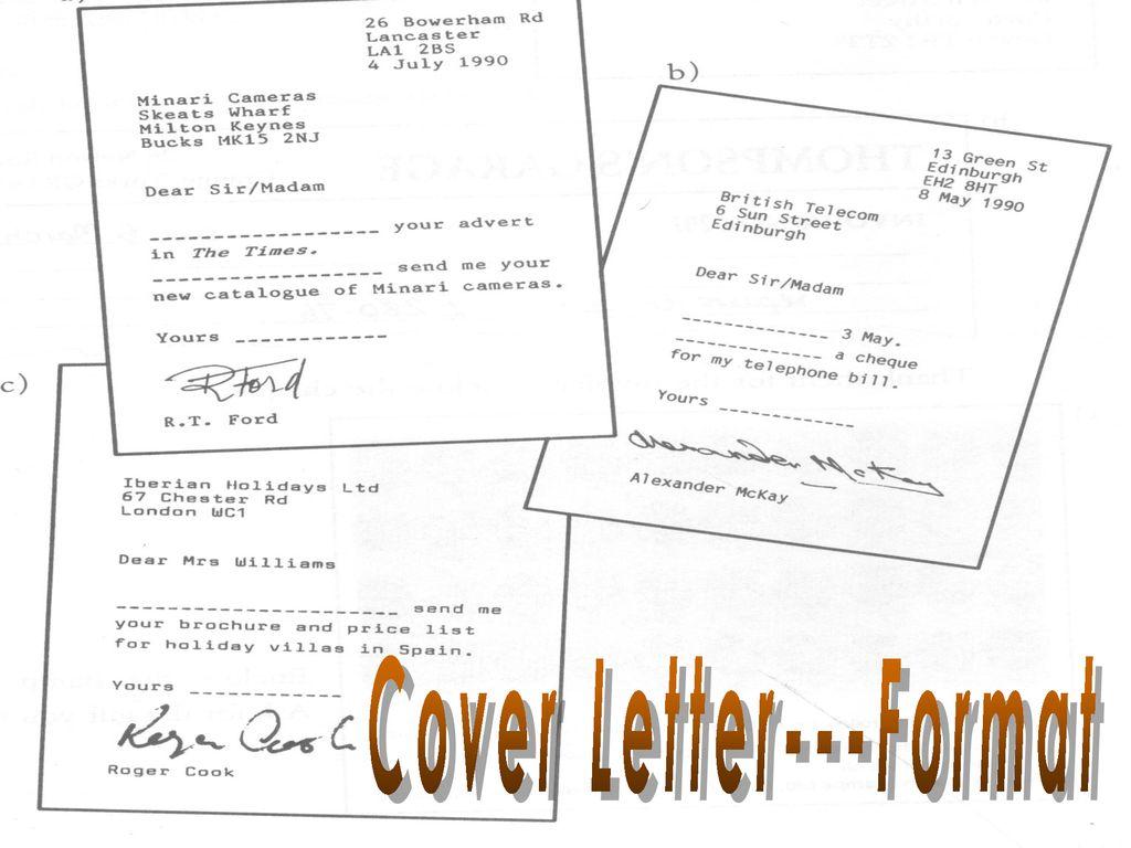 Cover Letter---Format - ppt download