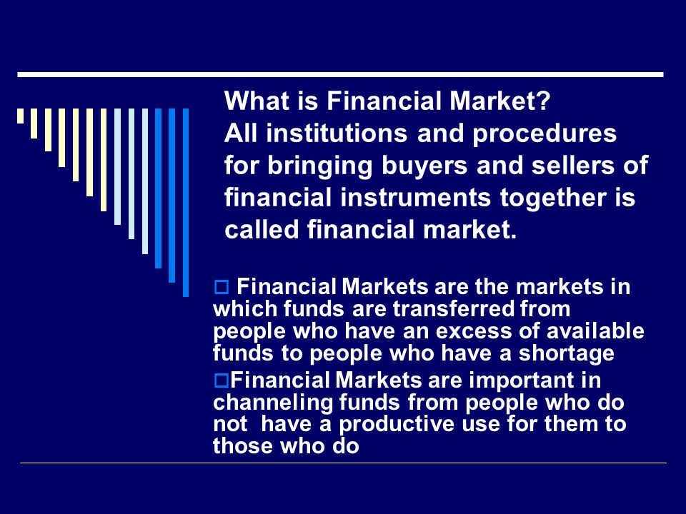 What is Financial Market