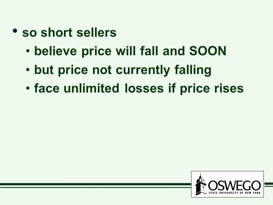 so short sellers believe price will fall and SOON.