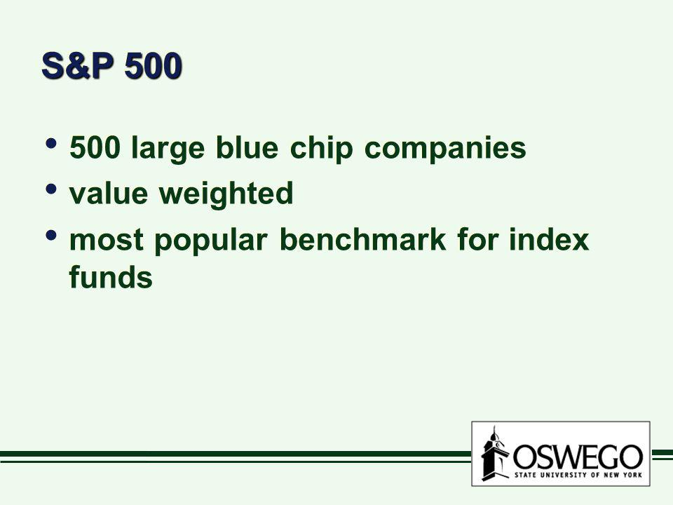 S&P 500 500 large blue chip companies value weighted