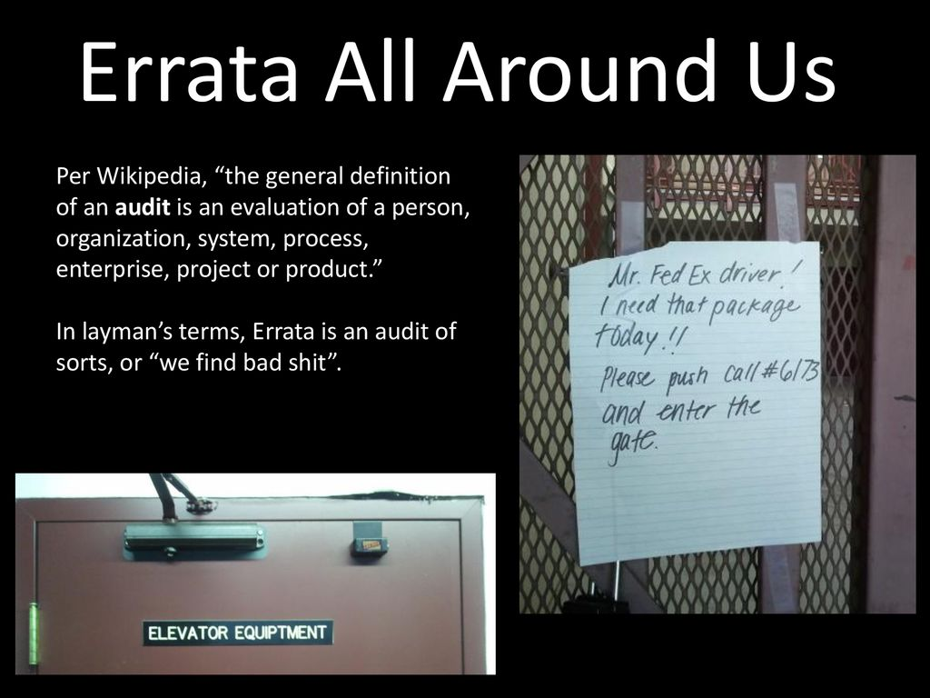 Errata Hits Puberty: 13 Years of Chagrin - ppt download