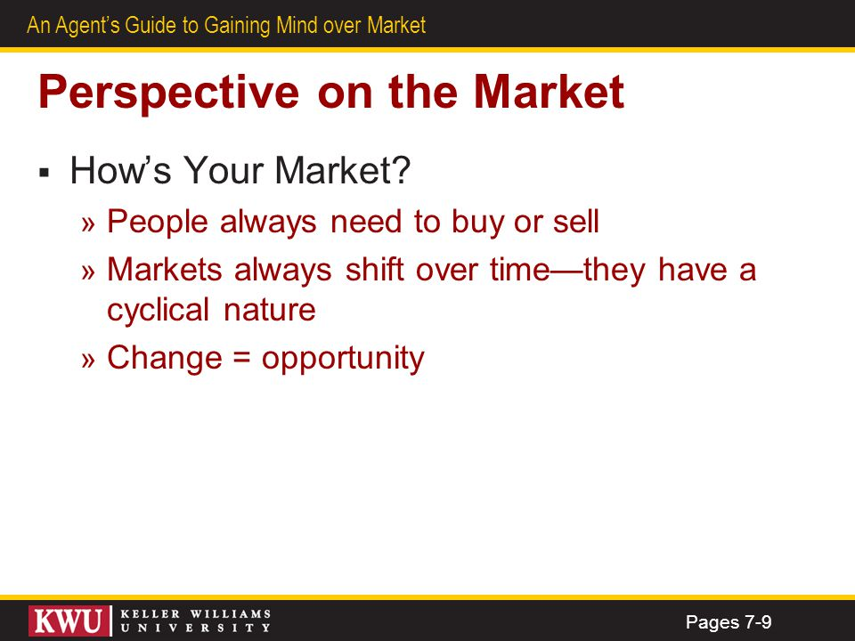 Perspective on the Market