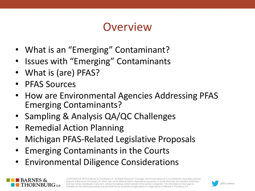 Emerging Contaminants: Reactions to PFAS - ppt download