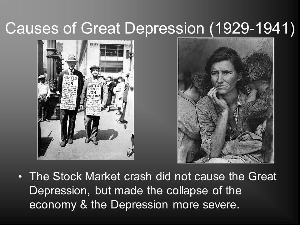 Causes of Great Depression (1929-1941)