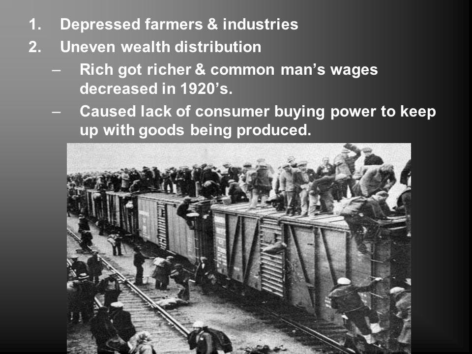 Depressed farmers & industries