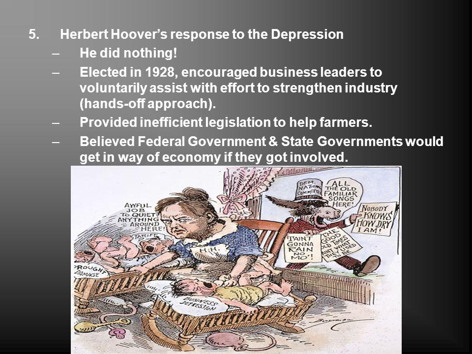 Herbert Hoover's response to the Depression