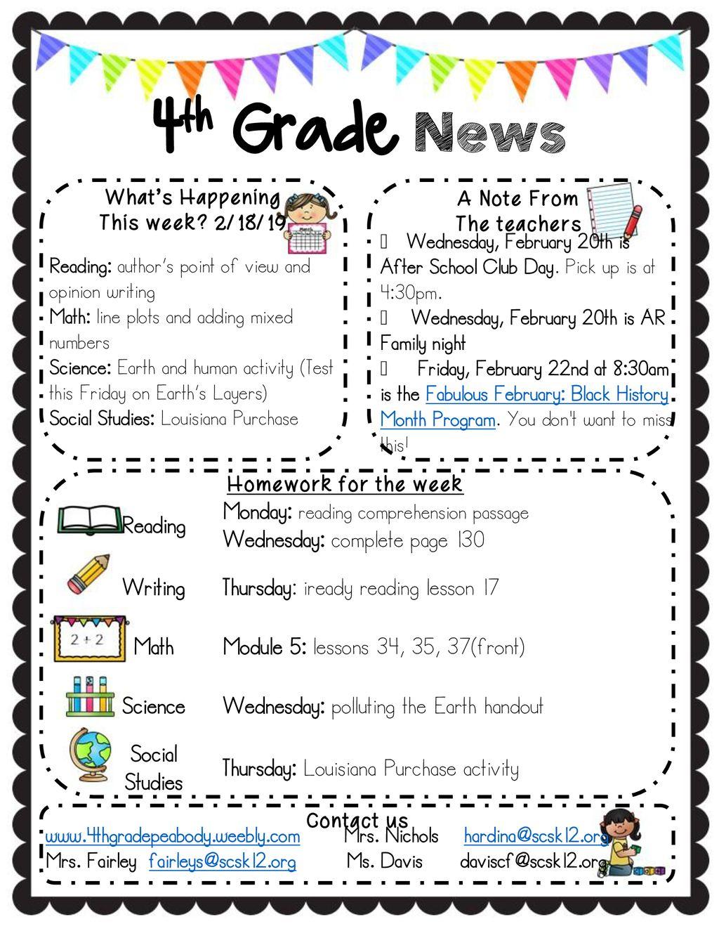 - 4th Grade News Reading Monday: Reading Comprehension Passage - Ppt