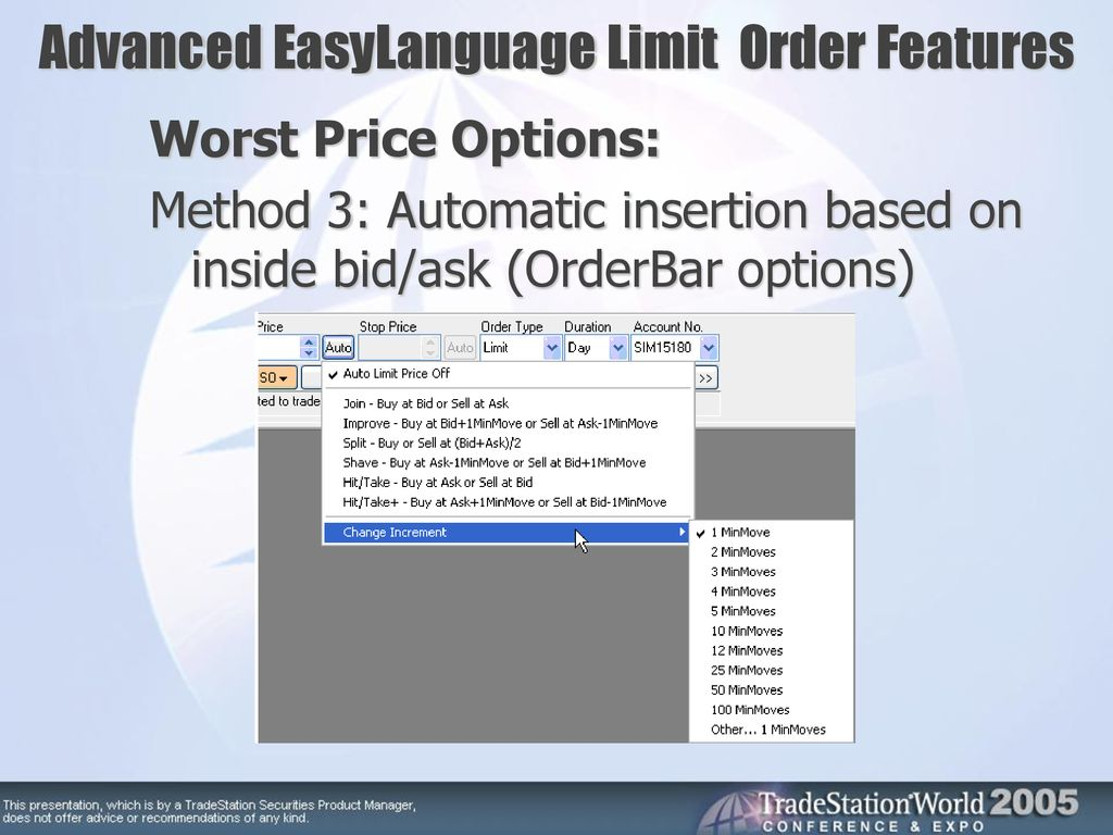Advanced EasyLanguage Limit Order Features - ppt download