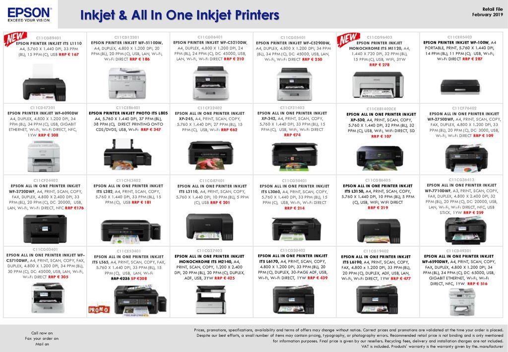 Inkjet & All In One Inkjet Printers - ppt download