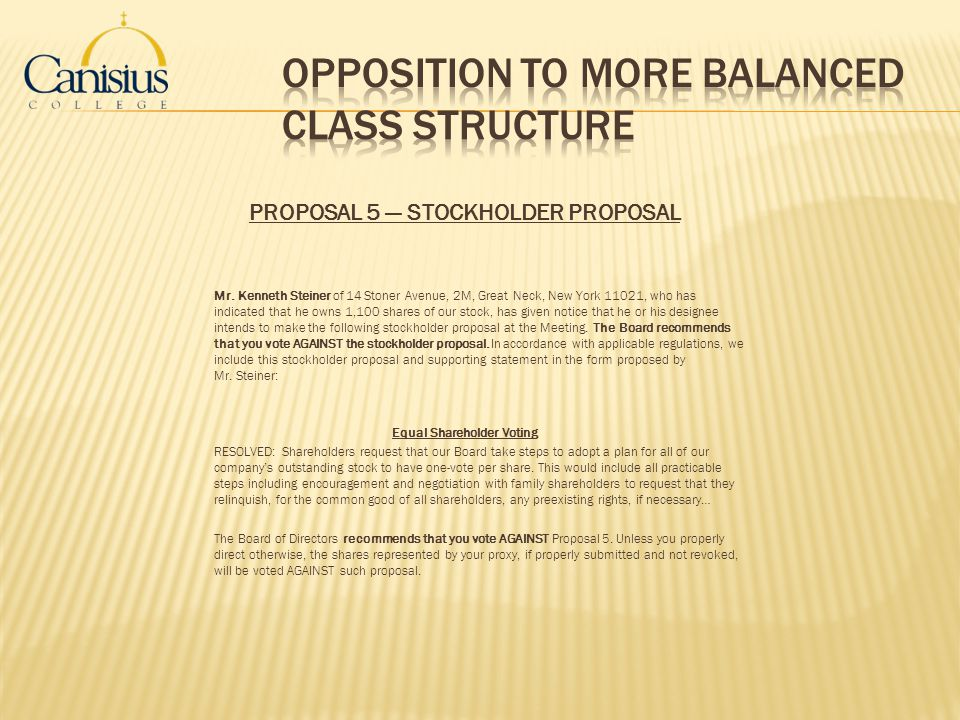 Opposition to more balanced class structure