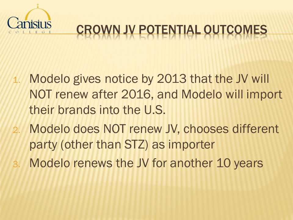 Crown JV Potential Outcomes