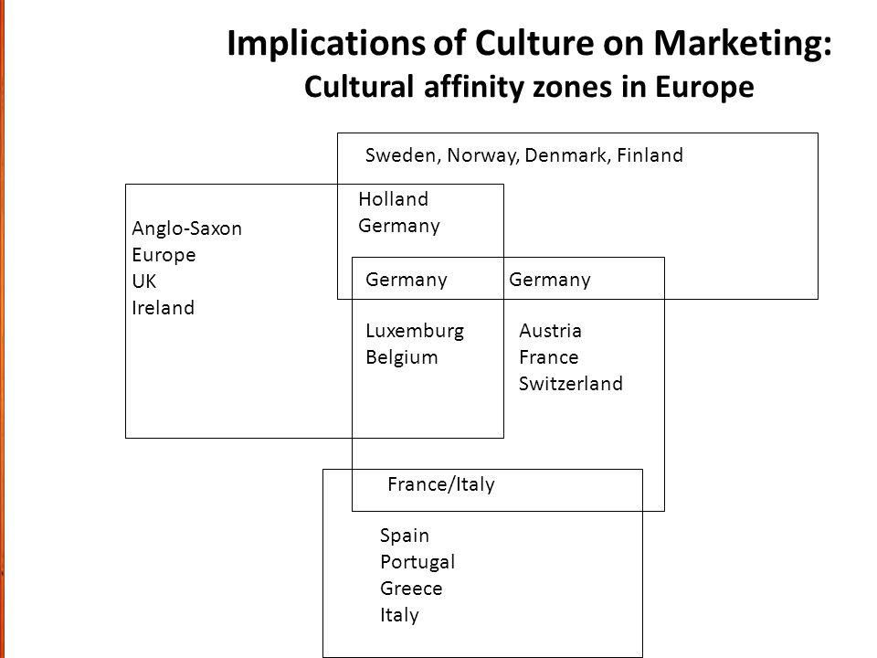 Implications of Culture on Marketing: Cultural affinity zones in Europe