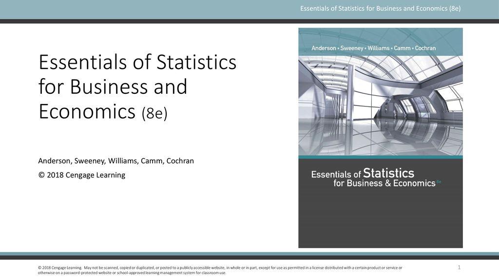 Essentials of Statistics for Business and Economics (8e