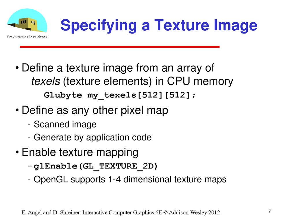 Opengl Texture Mapping Ppt Download