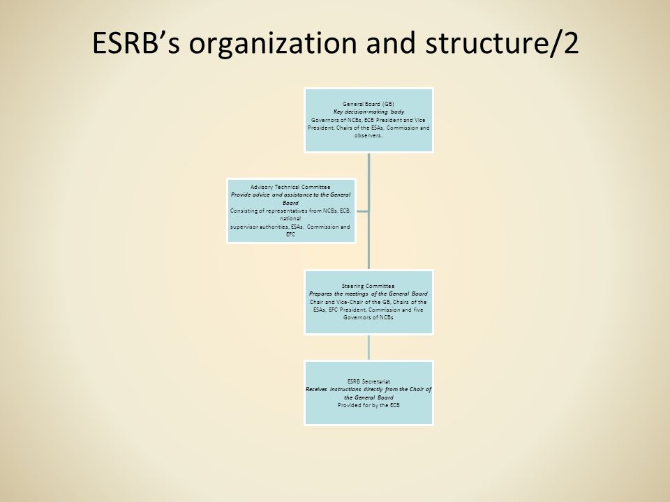 ESRB's organization and structure/2