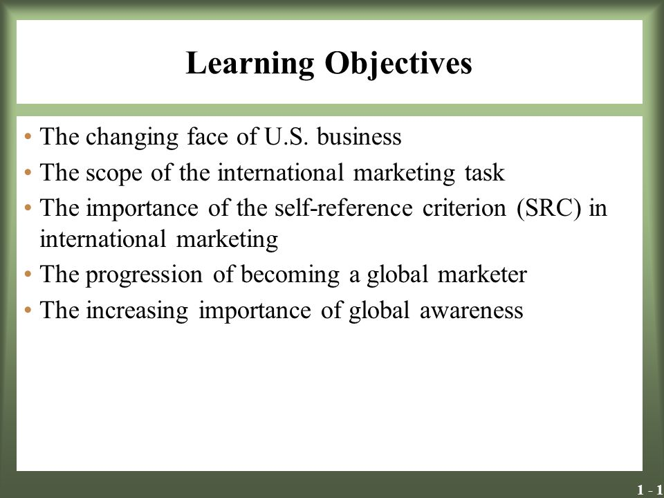 Learning Objectives The changing face of U.S. business