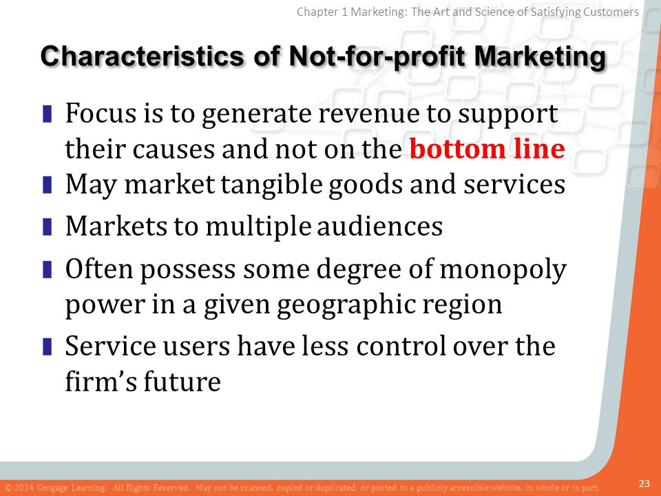 Characteristics of Not-for-profit Marketing