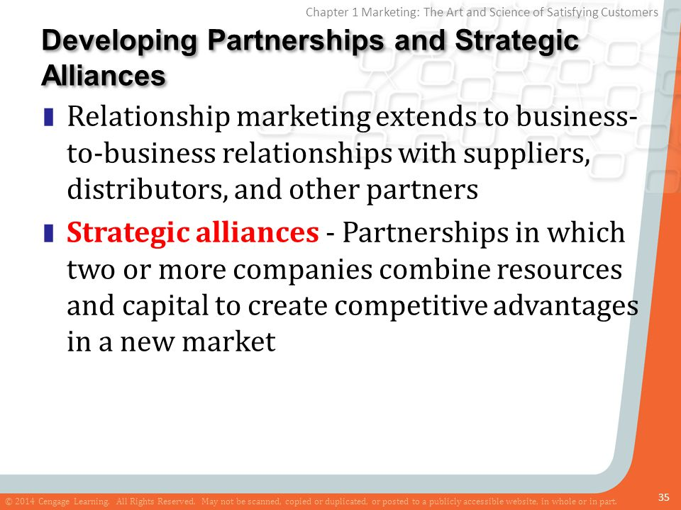 Developing Partnerships and Strategic Alliances
