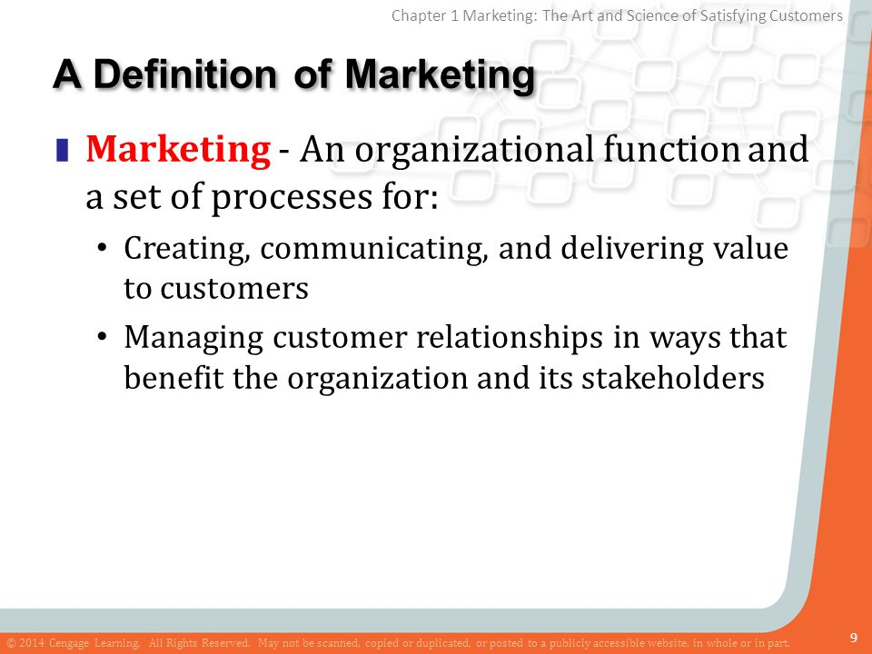 A Definition of Marketing