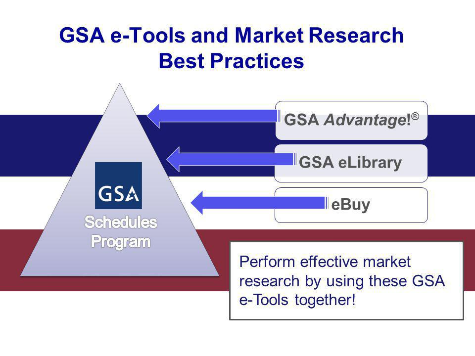 GSA e-Tools and Market Research Best Practices